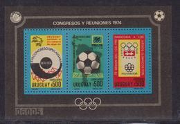 Uruguay 1974 World Cup Football Bl 39 UPU - Coppa Del Mondo