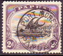 "PAPUA (BRITISH NEW GUINEA) 1908 SG #55 2d Used Small ""PAPUA"" Wmk Upright Perf.12½ CV £9 - Papua New Guinea"