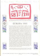 FRANCIA - France - 1991 - Europa Cept - Document Philatélique - FDC - Strasbourg - Documenti Della Posta