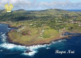 Easter Island Aerial View Rapa Nui UNESCO New Postcard Osterinsel AK - Rapa Nui