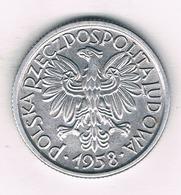 2 ZLOTE  1958 POLEN /3120/ - Pologne