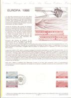 FRANCIA - France - 1988 - Europa Cept - Document Philatélique - FDC - Paris - Documenti Della Posta