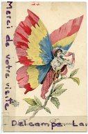 - Militaria - Patriotique - N° 10 - Roumanie - Roumania - Drapeaux, Papillon, édition Aux Alliés, Non écrite, Scans. - Patriotiques