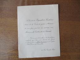 EGLISE NOTRE DAME DE VERSAILLES LE 7 AVRIL 1932 VICOMTE DE BIGAULT DE FOUCHERES AVEC MADEMOISELLE GUILLEMETTE DE SOUANCE - Hochzeit