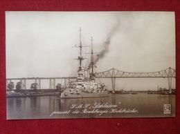 AK S.M.S. Schlesien Kriegsschiff Rendsburger Hochbrücke Ca. 1914 - Krieg