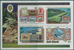 COOK ISLANDS, 1974 UPU Centenary S/s MNH - Islas Cook