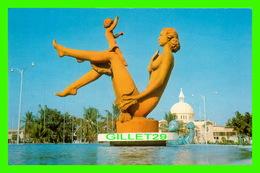 HAITI - FONTAINE LUMINEUSE - PHOTO GUY TOUVERON - EDITION DELROISSE - - Haïti