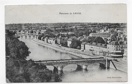 (RECTO / VERSO) LAVAL EN 1910 - PANORAMA - BEAU CACHET - CPA VOYAGEE - Laval