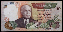# # # Banknote Tunesien (Tunisia) 10 Dinars 1986 # # # - Tunesien
