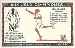 PUBLICITE - Tailleur GEO - Aux Jeux Olympiques - Werbepostkarten