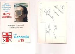 M8537 POLITICA ELEZIONI SICILIA PALERMO 1990 NON VIAGGIATA - Partiti Politici & Elezioni