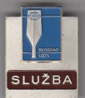 "Rare Participant Badge ""Office/Service"" -  ICF Kayak And Canoe World Championships Belgrade 1971. Yugoslavia - Canoeing, Kayak"