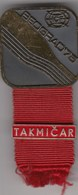 "Rare Participant Badge ""Competitor"" -  ICF Kayak And Canoe World Championships Belgrade 1971. Yugoslavia - Kano"