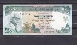 Mauritius 200 Rupees  UNC - Billets