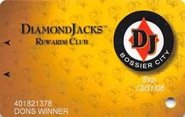Diamond Jack's Casino Bossier City, LA - Slot Card - Copyright 2006 - Casino Cards