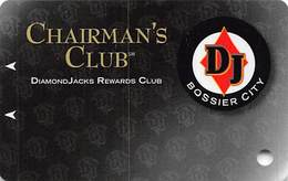 Diamond Jack's Casino Bossier City, LA - BLANK Chairman's Club Slot Card - Copyright 2006 - Casino Cards