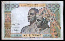 # # # Banknote Französisch Westafrika (French West Africa) 1.000 Francs # # # - Uganda