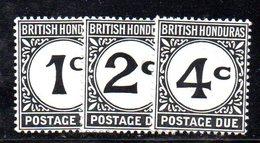 XP3621 -  BRITISH HONDURAS  1923 , Segnatasse Serie N. 1/3  *** - Honduras Britannique (...-1970)