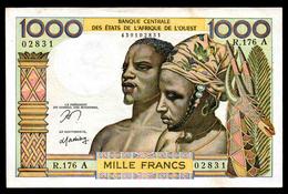 # # # Banknote Westafrika (West Africa) 1.000 Francs UNC- # # # - Uganda