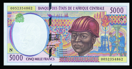# # # Banknote Äquatorial Guinea (Equatorial Guinea) 5.000 Francs UNC # # # - Equatoriaal-Guinea