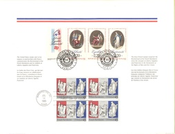 Emissione Congiunta - USA-France - Stati Uniti-Francia - 1989 - French Revolution - Liberté, Égalité, Fraternité -FOLDER - Emissioni Congiunte