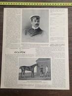 ENV 1903 L HISTOIRE DU PUR SANG CHEVAL ECLIPSE MAMBRINO GIMERACK DE GEO STUBBS - Vieux Papiers
