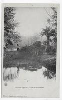 (RECTO / VERSO) ENVIRONS D' HYERES EN 1906 - VALLEE DE SAUVEBONNE AVEC PERSONNAGE - BEAU CACHET - CPA VOYAGEE - Hyeres