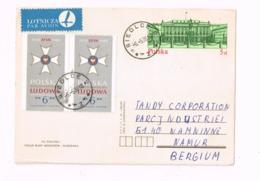 Entier Postal à 5 Zl.Expédié De Siedlce à Naninne (Belgique) - Entiers Postaux