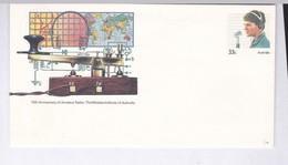 ENVELOPPE  ENTIER  AUSTRALIE / 75  Ième ANNIVERSAIRE  RADIO  AMATEUR(EXPLICATION AU DOS) - Fisica