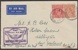 FIRST FLIGHT AUSTRALIA To NEW ZEALAND 1934 VH UXX FAITH CTP ULM - First Flight Covers