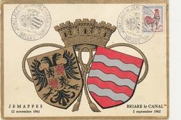 BRIARE LE CANAL / JEMAPPES  -   ** JUMELAGE DES 2 VILLES LE 1 Et 2 09 1962 **  -  Editeur : Artiste R. LOUIS Composition - Briare