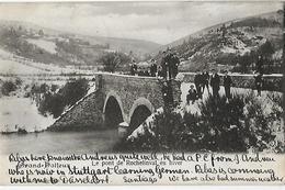 -GRAND HALLEUX, Le Pont De Rochelinval En Hiver- Paysage Enneigé.Nombreux Personnages .1906. - België