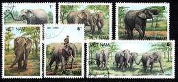 VIETNAM 1987 MI.NR.1777-1782 Elefanten  USED / GEBRUIKT / OBLITERE - Viêt-Nam