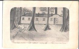 Dessin De Charles Ganin. Baraque De 100 Civils Prisonniers. - Cartes Postales