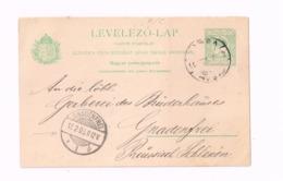 Entier Postal à 5 Filler.Expédié De Kaschau à Gnadenfrei - Entiers Postaux