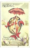 1ER AVRIL - POISSON D'AVRIL - Carte Pailletée - Série 1025 - 1er Avril - Poisson D'avril