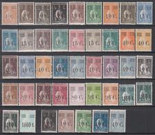 1928-29 Yvert Nº 454 / 490, 457a, 458a, 459a, 475a, 479a,  Michel Nº 472 / 507 A,C, /*/ - Nuevos