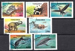Tanzania 1994 Mi.nr.:1775-1781 Geschützte Fauna  OBLITÉRÈS / USED / GEST. - Tanzanie (1964-...)