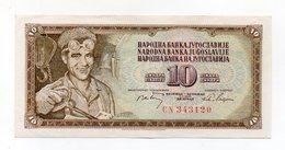Iugoslavia - 1968 - Banconota Da 10 Dinari - Usata - (FDC14943) - Jugoslavia