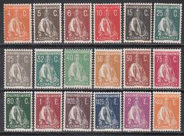 1930 Yvert Nº 514 / 528,  Michel Nº 516 / 530, 523b, /*/ - 1910-... République