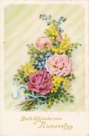 AK Beste Wünsche Zum Namenstag - Blumen Rosen - Künstlerkarte - Ca. 1960 (40487) - Holidays & Celebrations