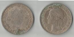 INDOCHINE 1 PIASTRE 1931  ARGENT - Kolonien