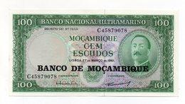 Mozambico - 1961 - Banconota Da 100 Scudi - Nuova -  (FDC14945) - Mozambico