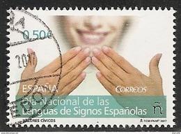 2017-ED. 5155 SERIE COMPLETA- Valores Cívicos. Día Nacional De Las Lenguas De Signos Españolas -USADO - 1931-Tegenwoordig: 2de Rep. - ...Juan Carlos I