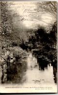 SAINTE-MENEHOULD L'Aisne Vue Du Pont De Pierre (côté Amont) Dos Non Divisé CPA Ecite En 1905 TBE - Sainte-Menehould