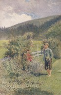 AK Prof. E. Hörwarter - Le Jeune Berger - Der Hüterbub - The Boy-shepherd  (40492) - Paintings