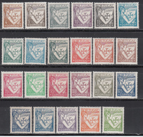 1931-38 Yvert Nº 529 / 546 /*/ - Neufs