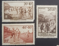 1937, The Postal Unions Sports Club, France, Republique Française, *,**, Or Used - France