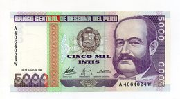 Perù - 1988 - Banconota Da 5000 INTIS - Nuova -  (FDC14947) - Perù