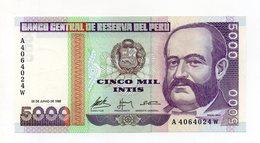 Perù - 1988 - Banconota Da 5000 INTIS - Nuova -  (FDC14947) - Peru